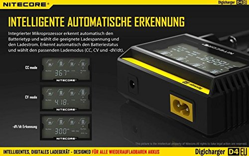Hohe Qualität NITECORE Digicharger D4 LCD Display Universal Smart Charger