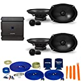 CreativeAudio Alpine 2-Pairs S-S69C 6x9 Component Speakers with Alpine S-A32F 320W 4-Ch Amp and Wiring