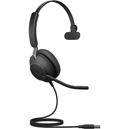 Jabra Evolve2 40 Pc Headset Noise Cancelling Microsoft Teams Zertifizierte Mono Kopfhörer Mit 3 Mikrofonen Usb A Kabel Schwarz Elektronik