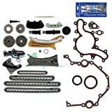 NEW TK4090SKSI Timing Chain Kit, Cover Gasket Set, Front Oil Seal, & RTV Gasket Maker for Ford / Mazda / Mercury 4.0L (4015cc) 245cid SOHC V6 (12-Valve) Engine, Vin Code 'E' 'K' 'N' 1997-11