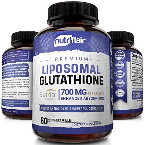 NutriFlair Liposomal Glutathione Setria® 700mg -...