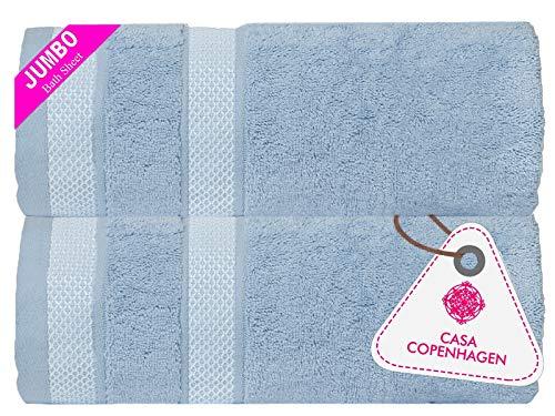 CASA COPENHAGEN Solitaire, set di include 2 asciugamani da bagno, Skyway