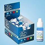 Bad Breath Eliminator Ice Drops | Flavored Breath Drops - Instant Fresh Breath, Sugar Free, Fat Free - 3.2mL Droppers - 50 Count Display (Spearmint)