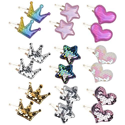 18Pcs Pinza de Pelo Pinza Dulce de Pelo Multicolor Horquillas Clips Pelo Bebe Niña Conjunto de Accesorios Pelo Accesorios...