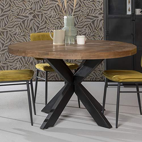 BRIX Esstisch Sturdy Ø 150 cm rund Mangoholz Dinnertisch Tisch Esszimmertisch
