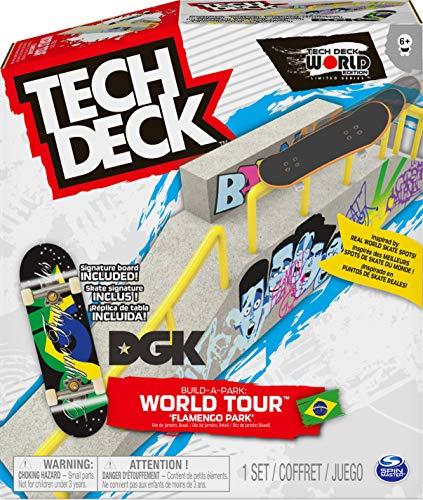 FINGER SKATE - TECH DECK - COFFRET BUILD-A-PARK - Authentique Skatepark À Créer Avec 1 Planche Mini Skate - 6055721 - Jouet Enfant 6 Ans et + - Modèle Aléatoire