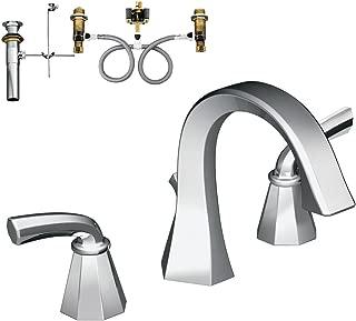 Moen KLFE-D-TS448CR Felicity Two-Handle High-Arc Lavatory Faucet, Chrome