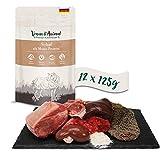 Venandi Animal Premium Nassfutter für Katzen, Schaf als Monoprotein 12 x 125 g, getreidefrei und naturbelassen, 1.5 kg
