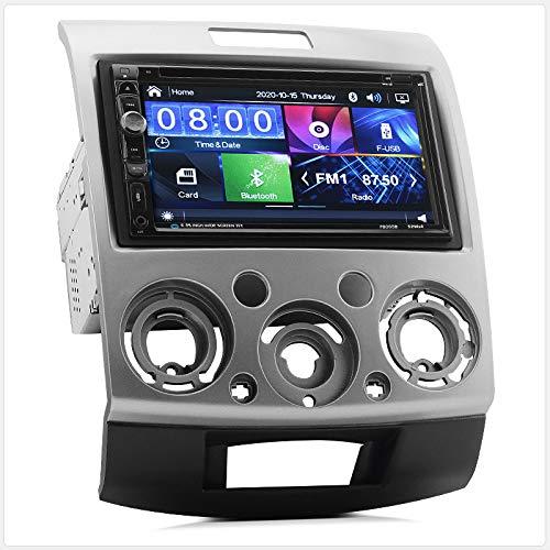 TUNEZ® InDash Autoradio Lecteur DVD CD Compatible avec Ranger (PJ PK) Mazda BT-50 Année 2006-2011 Radio stéréo MP3 MP4 USB SD Fascia ISO