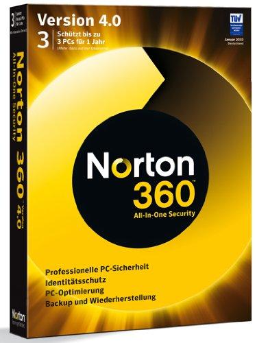 Norton 360 V4.0 3 Benutzer - deutsch [import allemand]