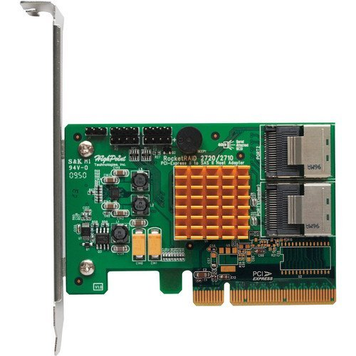 HighPoint ROCKETRAID 2720SGL 8xPort SAS/SATA 6Gb/s RAID 8xPCI Express Low Profile Controller Card