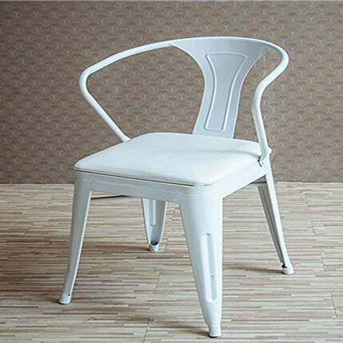 LY7 metalen barkruk smeedijzeren buitenterras Bistro stoelen met armsteun voor tuin achtertuin zwart wit geel