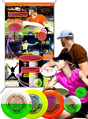 X-COM HHD 175g Ultimate 3 Discs (1 Glow in Dark)+65g 1 Disc Dragon Glow +16g 1 Disc Mini Pocket +2 Wristbands 2 Storages Bag 28 Stickers (Orange+Lime+Glow)