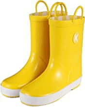 KomForme Plain Color Girl Rubber Rain Boots Waterproof with Handles