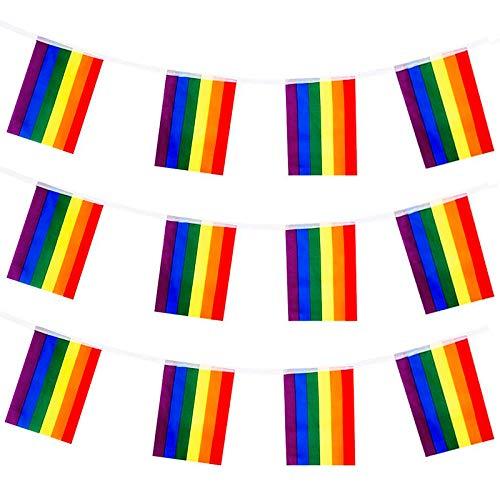 Banderines LGTBI de poliéster | Tira de 25 m. (100 banderas) | #Orgullo