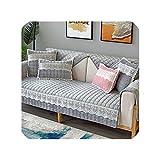 Grün Plaid Winter Pure Color Plüsch Einfache Gepolsterte Sofakissen Rosa Frische und Komfortable Wohnzimmer Kombination Sofabezug B 110x110 cm 1 stücke