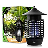 White Kaiman Bug Zapper w/ 500v Mosquito Killer and Insect Zapper ~ Indoor & Outdoor Waterproof Lamp ~Vertical Electric Zapping Grid ~ 7W UVA Replaceable Mosquito Lamp Bulb (Bug Zapper)