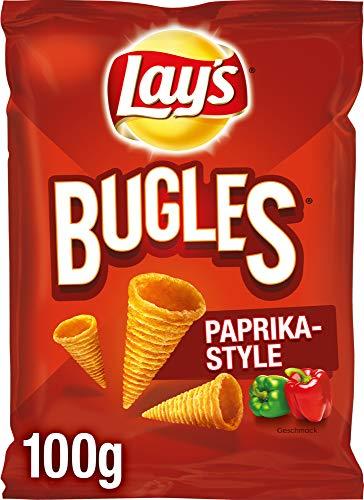Lay's Bugles Paprika – Herzhafter Mais-Snack mit Paprika-Geschmack – 12 x 100g