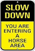スローダウンあなたは馬のエリアに入る金属スズサイン産業標識安全標識道路標識