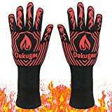 BBQ Grill Gloves,BBQ Gloves,Heat Resistant Gloves,1472℉ Grilling Gloves, Silicone Insulated Gloves for Barbecue,Kitchen,Cooking,Baking,for Handling Heat Food Right on Your Fryer, Grill or Oven