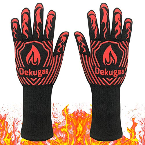 BBQ Grill Gloves,Heat Resistant Gloves,1472℉ Grilling Gloves, Silicone Insulated Gloves for Barbecue,Kitchen,Cooking,Baking,for Handling Heat Food Right on Your Fryer, Grill or Oven