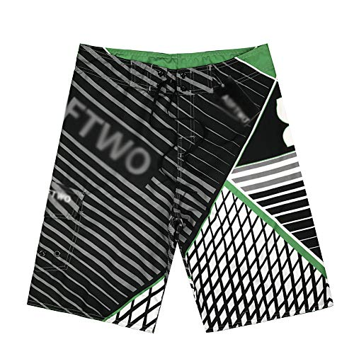 YOUJIA Leisure Pantalones Shorts Playa Surf Trajes De Baño para Hombre Verde XL