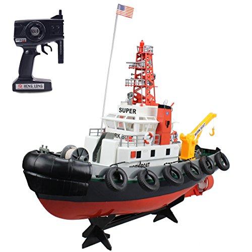Fistone RC Seaport Boat 2.4G Workboat...