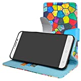 MAMA MOUTH Alcatel A3 XL Case, [Stand View] Flip Premium PU