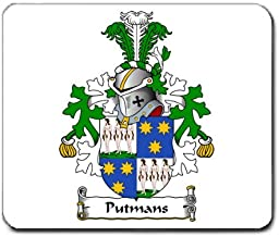 Putmans Family Crest Coat of Arms Mouse Pad