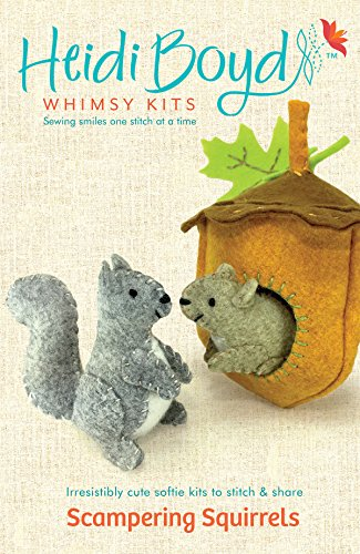 Heidi Boyd   Scampering Squirrels   Whimsy Kits   Enjoy Creating Busy Scampering Squirrels with This All Inclusive Felt Craft Sewing Kit Age 13+