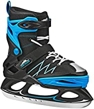 Lake Placid Monarch Boys Adjustable Ice Skate, Black/Blue, Medium/2-6