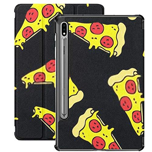 Funda Galaxy Tablet S7 Plus de 12,4 Pulgadas 2020 con Soporte para bolígrafo S, Funda Protectora Tipo Folio con Soporte Delgado y sin Costuras para Pizza para Samsung