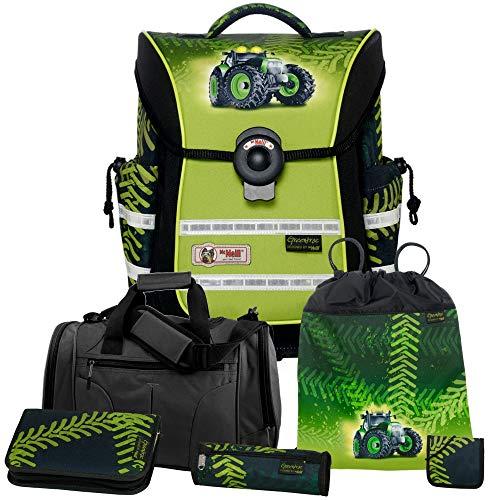 Greentrac - Traktor - McNeill Ergo Light Pure Schulranzen-Set 6tlg. mit Sporttasche, Federmappe und Brustbeutel