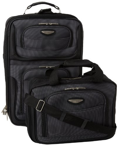 Travel Select Amsterdam Expandable Rolling Upright Luggage, Gray, 2-Piece Set