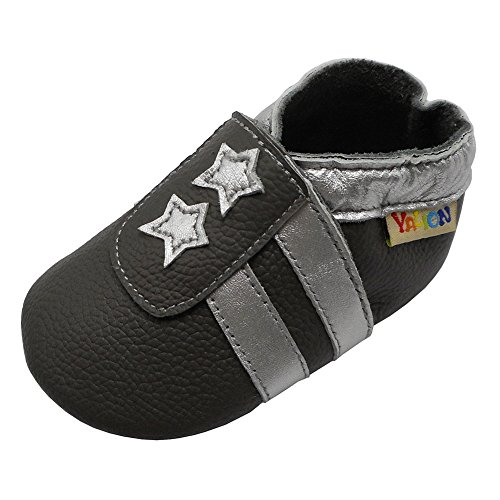 Dukars Baby Boys Girls Soft Sole Moccasins Lace-up Infant Toddler Shoes Sneaker (11cm (0-6months), Canvas - Grey)