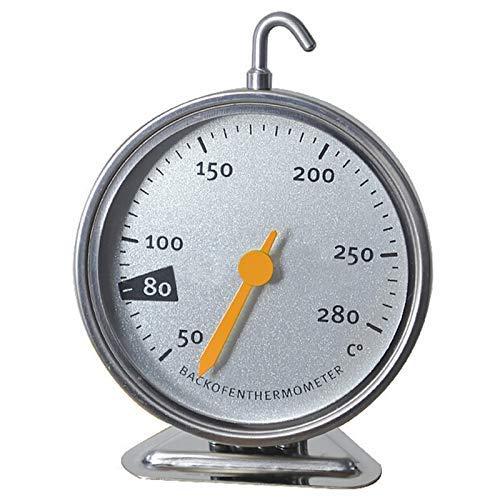 Itian Thermomètre au Four en Acier Inoxydable avec Crochet Suspendu Outil de Cuisson de Cuisine, précis et utile