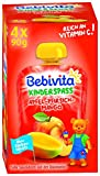 Bebivita Kinder-Spaß, Apfel-Pfirsich-Mango, 4er Pack ( 4 x 4 x 90 g )