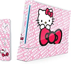Skinit Hello Kitty Pink Bow Peek Skin for Wii (Includes 1 Controller) - Officially Licensed Sanrio Gaming Decal - Ultra Thin, Lightweight Vinyl Decal Protection