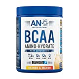 Applied Nutrition BCAA Powder Branched Chain Amino Acids Supplement with Vitamin B6, Replenish Electrolytes, Amino Hydrate Intra Workout and Recovery Powdered Energy Drink 450g (Orange & Mango)