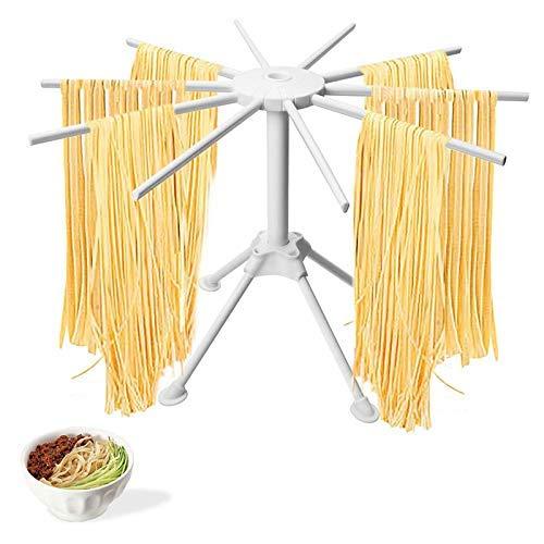 Sucute - Stendipasta pieghevole, 10 spaghetti eserciti per la pulizia di pasta fatta in casa, 42 x 28 x 18 cm