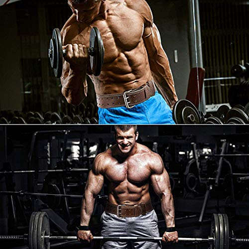 RDX Leder Gym Training Gewichthebergürtel Fitness 6″ Gürtel Dreikampfgürtel 2XL - 2