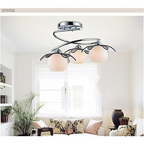Putian@ Montaje empotrado, 3 luces, moderno cristal de acero inoxidable blanco, 220-240V