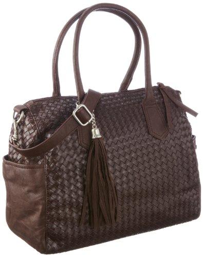 Friis & Company Damen River Handbag Schultertaschen, Braun/Mocca, 34x31x17 cm