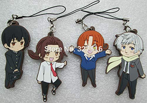 Anime Axis Powers Hetalia Figures The World Twinkle Cosplay Italy Russia Pvc Figure Phone Strap/keychain Pendant Toys, 05pcs