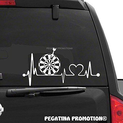 Pegatina Promotion Darts Dart Dartscheibe Dartpfeil Herzschlag Aufkleber 30 cm Herzlinie Hobby Sticker Auto Lack Scheibe Autoaufkleber