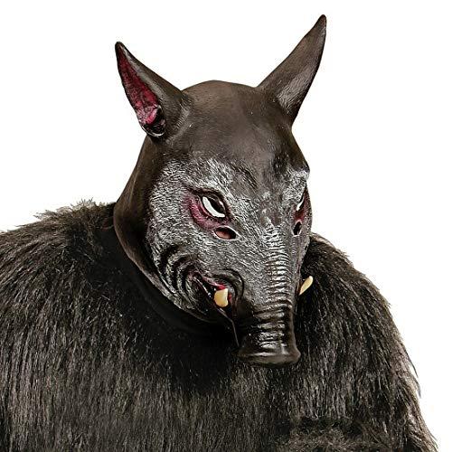Amakando Extraordinaria Mascara de Cerdo jabal/Marrn/Mascara de ltex Cara Completa Cerdo Halloween y Fiestas temticas