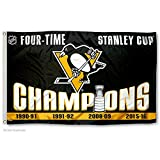 WinCraft Pittsburgh Penguins 4 Time Stanley Cup Champions Flag
