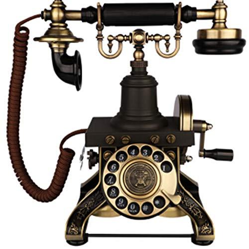 VERDELZ TeléFono Retro Europeo, Esfera Giratoria, TeléFono Fijo Fijo Antiguo Creativo Antiguo