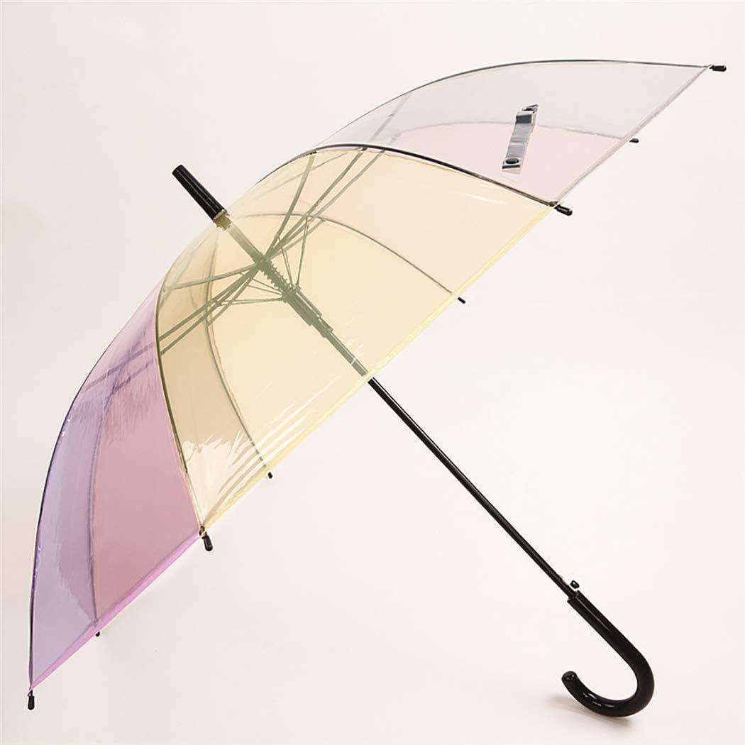 Rainbow Umbrella JUSTDOLIFE Stick Windproof Automatic U Challenge the lowest price OFFicial shop
