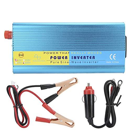 Convertitore Inverter di Potenza per Auto, 1000W DC 12V a AC 110V   AC 220V Inverter per Auto a Onda sinusoidale Pura con Porta USB, Presa CA, Protezione Multipla(AC220V)